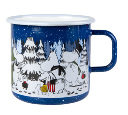 """Winter forest"" big enamel mug"