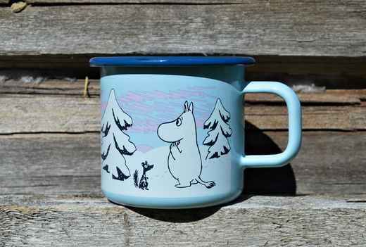 Moomin Magic Winter -enamel mug