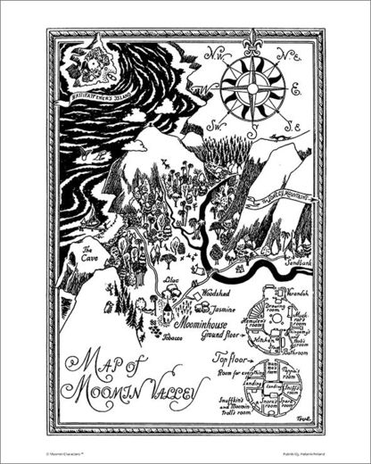 Map of Moominvalley poster