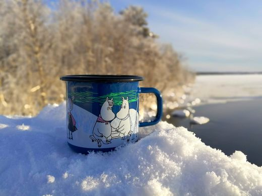 Moomin Winter Night -enamel mug
