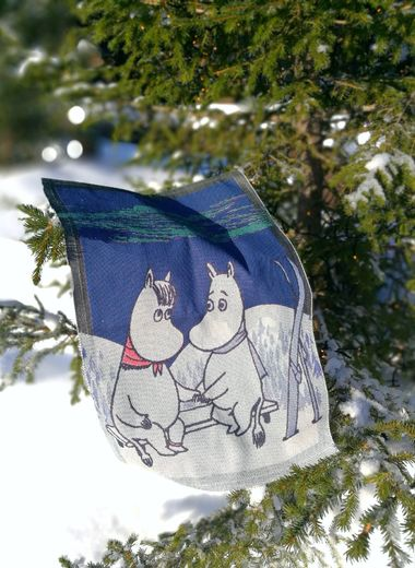 Moomin Winter Night teatowel