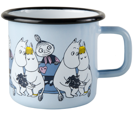 Friends blue -enamelmug 3,7 dl