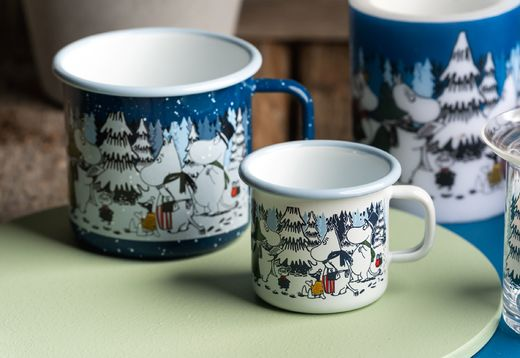 """Winter forest"" enamel mug"